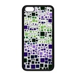 Block On Block, Purple Apple iPhone 5C Seamless Case (Black) Front