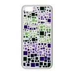Block On Block, Purple Apple iPhone 5C Seamless Case (White) Front