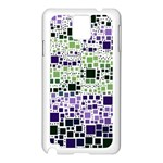 Block On Block, Purple Samsung Galaxy Note 3 N9005 Case (White) Front