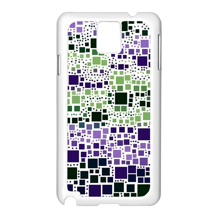 Block On Block, Purple Samsung Galaxy Note 3 N9005 Case (White)