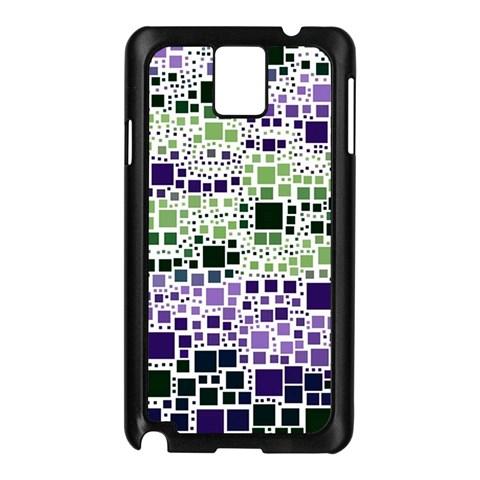 Block On Block, Purple Samsung Galaxy Note 3 N9005 Case (Black)