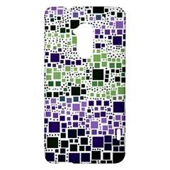 Block On Block, Purple HTC One Max (T6) Hardshell Case