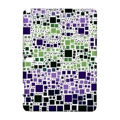 Block On Block, Purple Samsung Galaxy Note 10 1 (p600) Hardshell Case