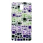 Block On Block, Purple Samsung Galaxy Note 3 N9005 Hardshell Back Case Front