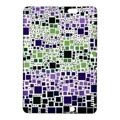 Block On Block, Purple Kindle Fire HDX 8.9  Hardshell Case