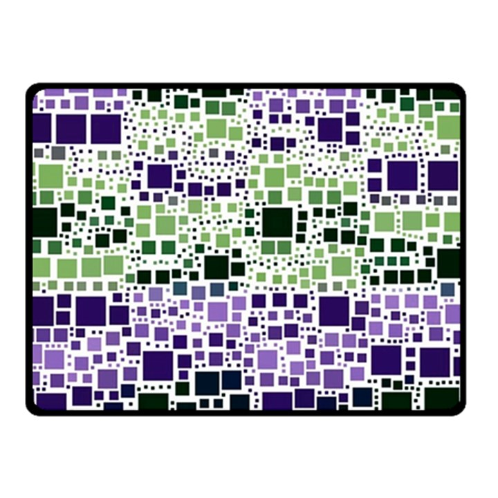 Block On Block, Purple Double Sided Fleece Blanket (Small)