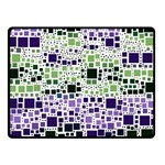 Block On Block, Purple Double Sided Fleece Blanket (Small)  45 x34 Blanket Back