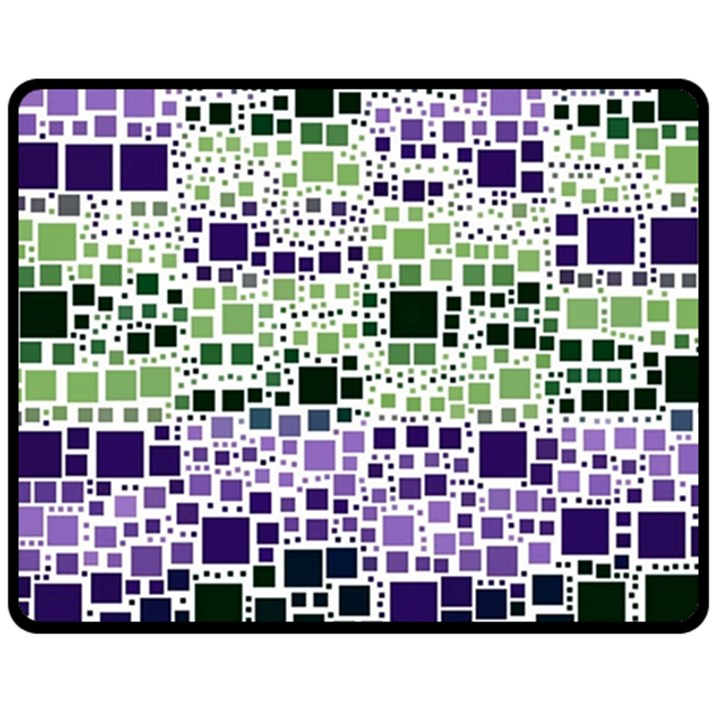Block On Block, Purple Double Sided Fleece Blanket (Medium)
