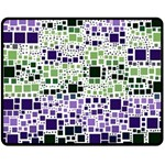 Block On Block, Purple Double Sided Fleece Blanket (Medium)  60 x50 Blanket Back
