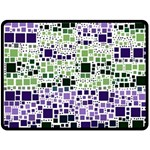 Block On Block, Purple Double Sided Fleece Blanket (Large)  80 x60 Blanket Front