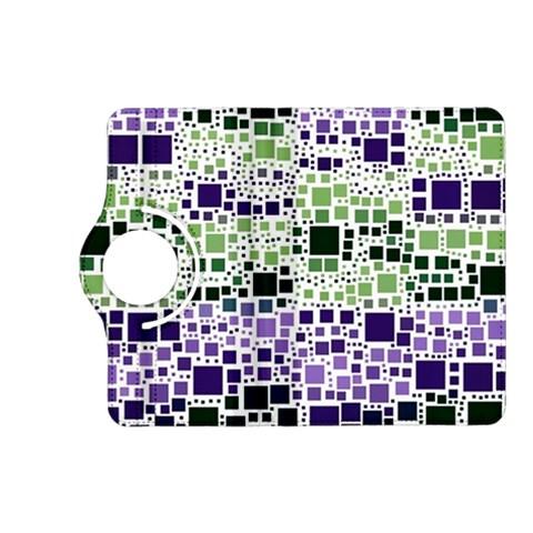 Block On Block, Purple Kindle Fire HD (2013) Flip 360 Case