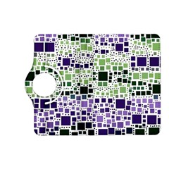 Block On Block, Purple Kindle Fire Hd (2013) Flip 360 Case