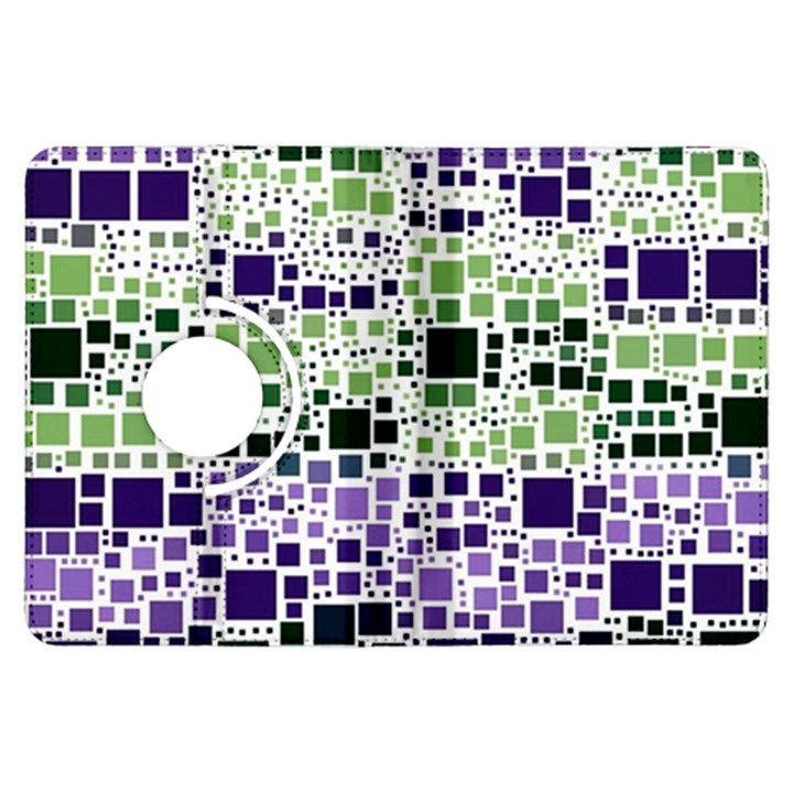 Block On Block, Purple Kindle Fire HDX Flip 360 Case