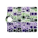 Block On Block, Purple Kindle Fire HDX 8.9  Flip 360 Case Front