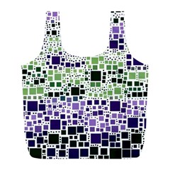 Block On Block, Purple Full Print Recycle Bags (L)