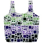 Block On Block, Purple Full Print Recycle Bags (L)  Back