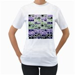 Block On Block, Purple Women s T-Shirt (White)  Front