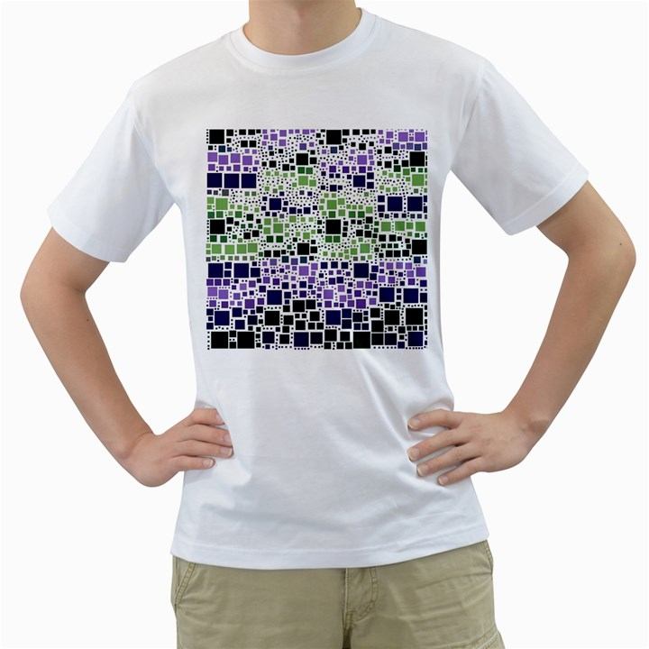 Block On Block, Purple Men s T-Shirt (White)