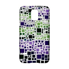 Block On Block, Purple Samsung Galaxy S5 Hardshell Case