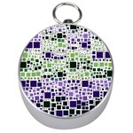Block On Block, Purple Silver Compasses Front