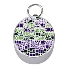 Block On Block, Purple Mini Silver Compasses
