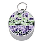 Block On Block, Purple Mini Silver Compasses Front