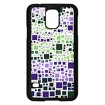 Block On Block, Purple Samsung Galaxy S5 Case (Black) Front