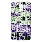 Block On Block, Purple Samsung Galaxy S5 Back Case (White) Front