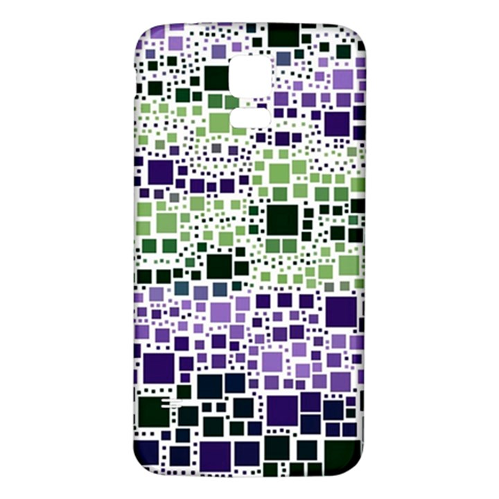 Block On Block, Purple Samsung Galaxy S5 Back Case (White)