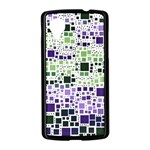 Block On Block, Purple Nexus 5 Case (Black) Front