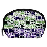 Block On Block, Purple Accessory Pouches (Large)  Front
