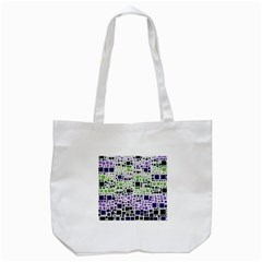 Block On Block, Purple Tote Bag (white)