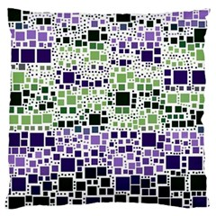 Block On Block, Purple Standard Flano Cushion Case (One Side)