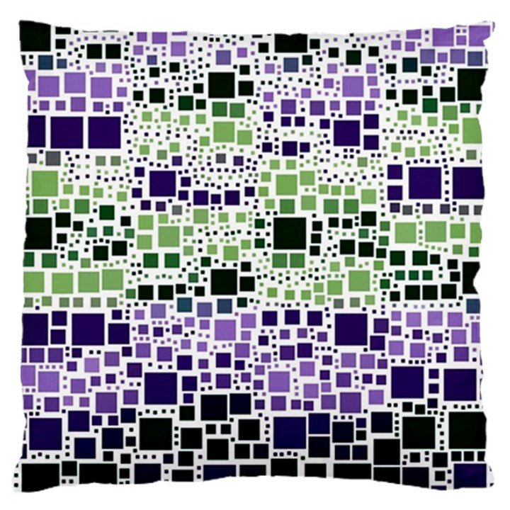 Block On Block, Purple Large Flano Cushion Case (One Side)