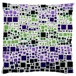 Block On Block, Purple Large Flano Cushion Case (Two Sides) Back