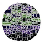 Block On Block, Purple Large 18  Premium Flano Round Cushions Front