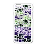 Block On Block, Purple Apple iPhone 6/6S White Enamel Case Front