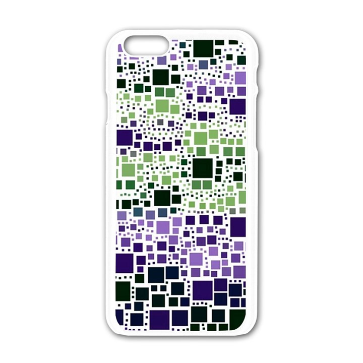 Block On Block, Purple Apple iPhone 6/6S White Enamel Case
