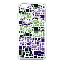 Block On Block, Purple Apple Iphone 6 Plus/6s Plus Enamel White Case