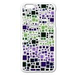 Block On Block, Purple Apple iPhone 6 Plus/6S Plus Enamel White Case Front