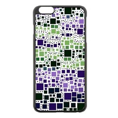 Block On Block, Purple Apple iPhone 6 Plus/6S Plus Black Enamel Case