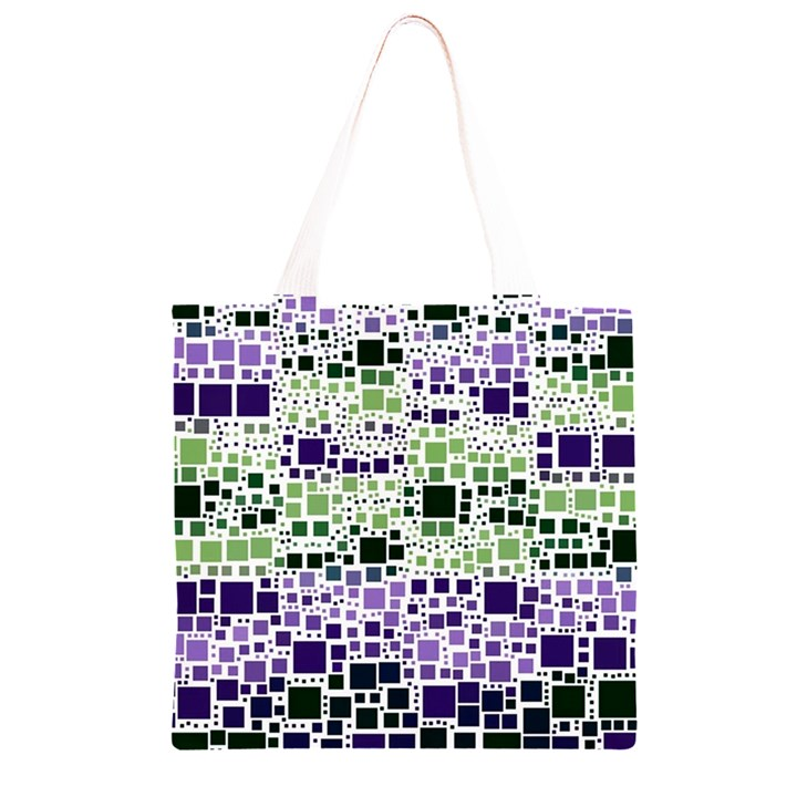 Block On Block, Purple Grocery Light Tote Bag