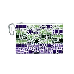 Block On Block, Purple Canvas Cosmetic Bag (S)