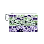 Block On Block, Purple Canvas Cosmetic Bag (S) Front