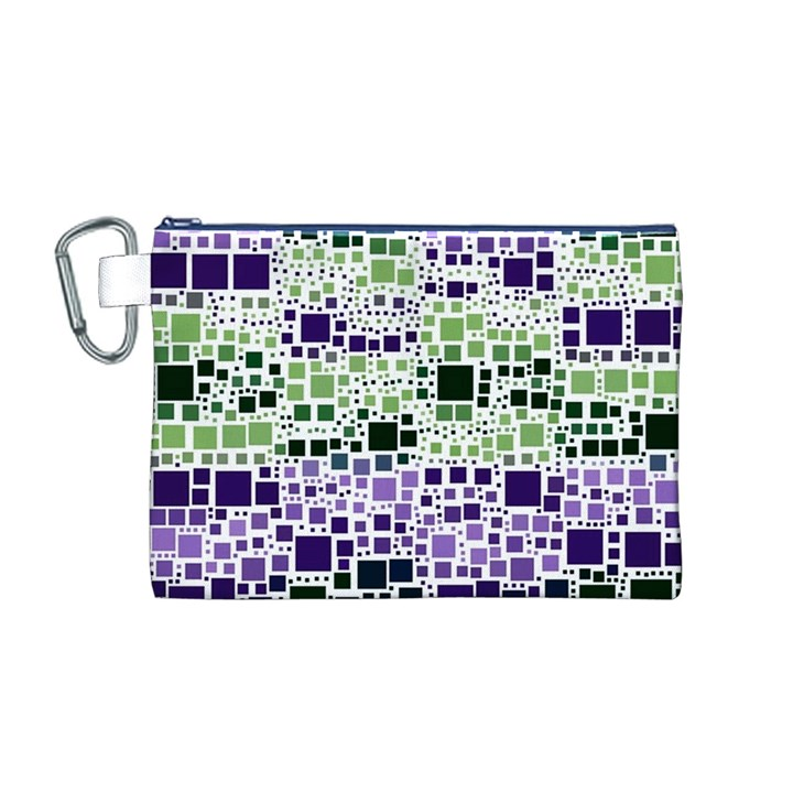 Block On Block, Purple Canvas Cosmetic Bag (M)