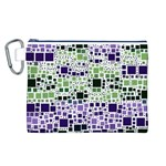 Block On Block, Purple Canvas Cosmetic Bag (L) Front