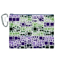 Block On Block, Purple Canvas Cosmetic Bag (XL)
