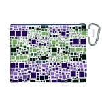 Block On Block, Purple Canvas Cosmetic Bag (XL) Back