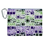 Block On Block, Purple Canvas Cosmetic Bag (XXL) Front