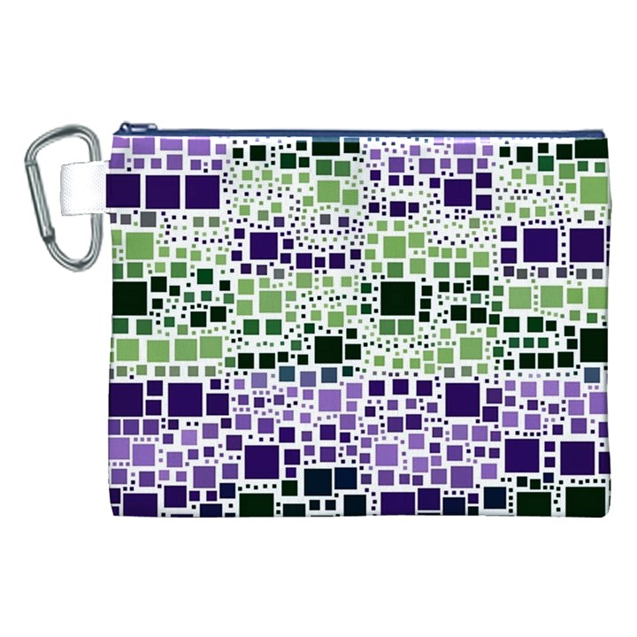 Block On Block, Purple Canvas Cosmetic Bag (XXL)